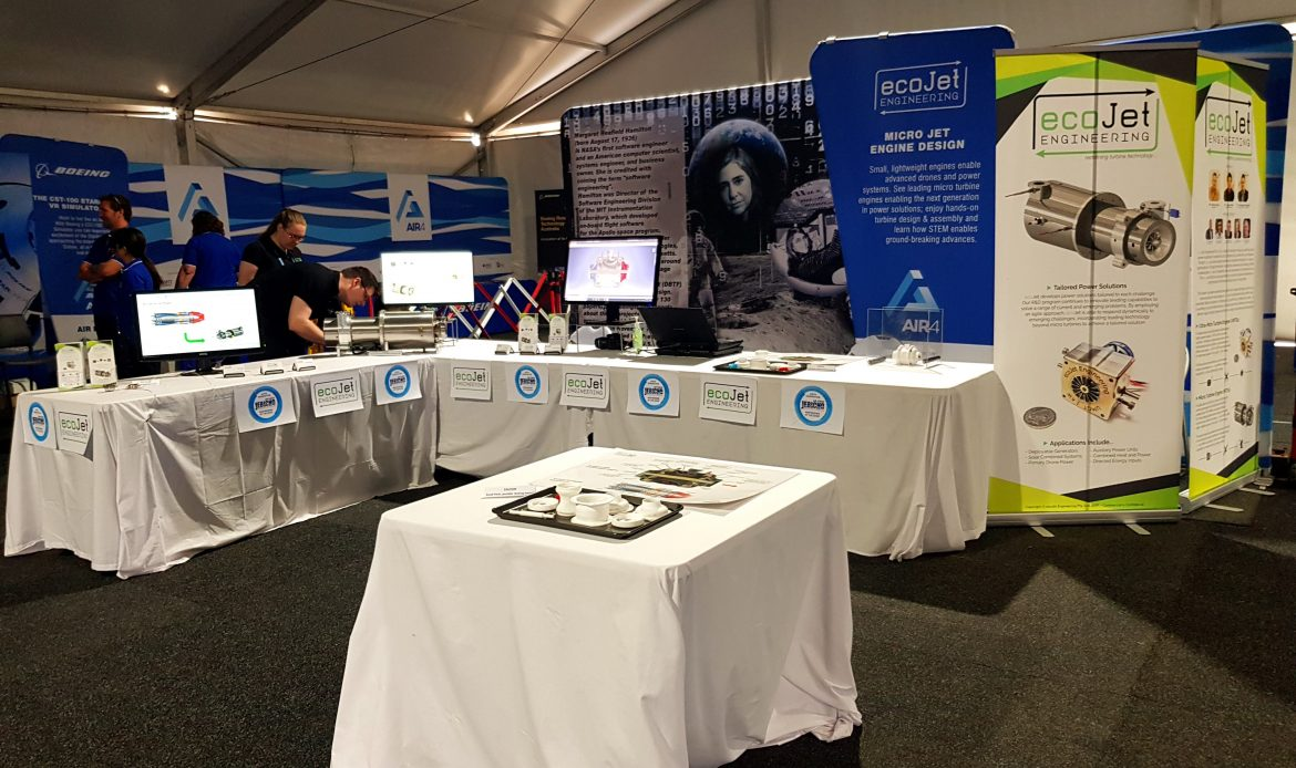 ecoJet Engineering booth at Avalon 2019