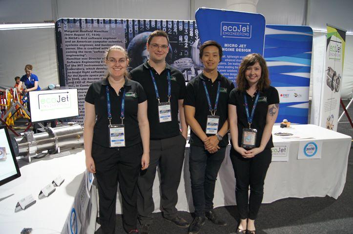 The ecoJet Avalon team: Emma, Alex, James and Georgia