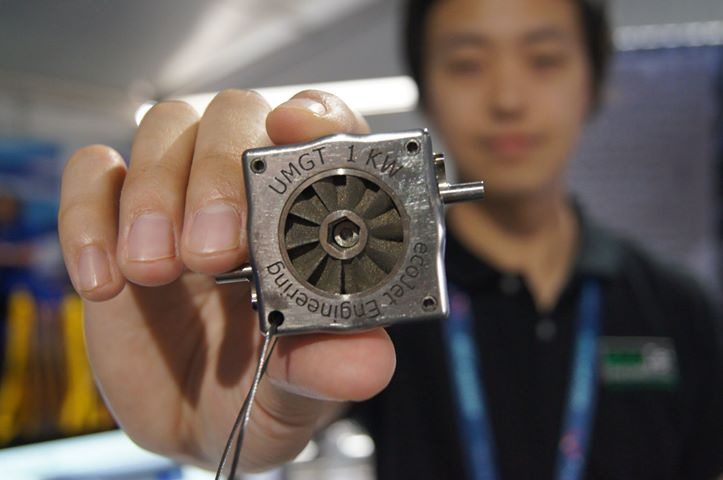 ecoJet's pocket sized 1kW ultra micro turbine prototype